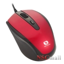 Mouse USB Serioux Pastel 3300, 1000/1600DPI, ambidextru, red, blister