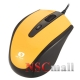 Mouse USB Serioux Pastel 3300, 1000/1600DPI, ambidextru, yellow, blister