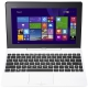 Tableta Asus Transformer T100TAF-DK038B cu procesor Intel® Atom™ Quad-Core™ Z3735G 1.33GHz, 10.1, IPS, 32GB+500GB, 2GB DDR3, Wi-Fi, Bluetooth 4.0, Windows 8.1, Docking Keyboard, White